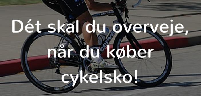 valg af cykelsko overvejelser