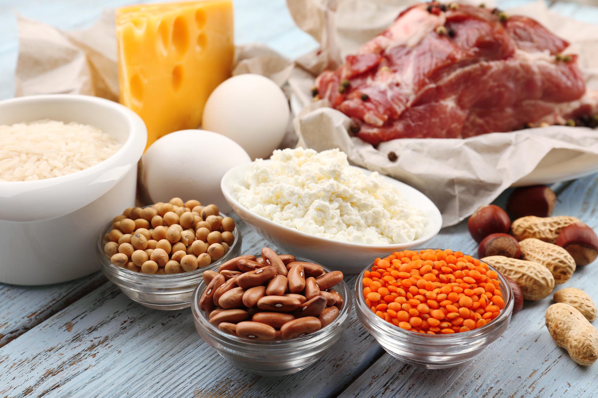 mad med højt protein